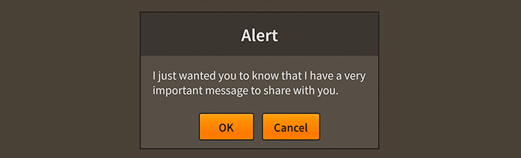 Screenshot of Feathers a Alert component